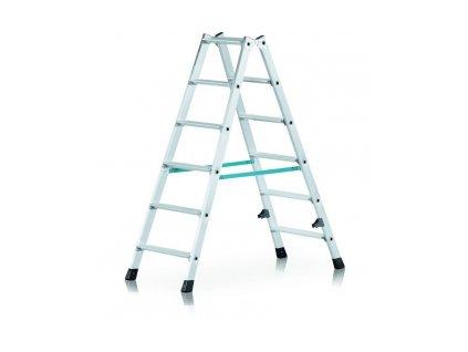 Nova B stojací žebřík, oboustranně schůdný, Pracovní výška: 3,20 m
