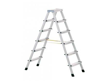 XL step B nýtovaný stojací žebřík, eloxovaný, Pracovní výška: 2,25 m