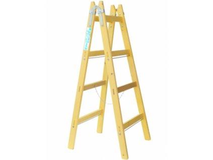 Dřevěný stojací žebřík (štafle), Pracovní výška: 2,45 m