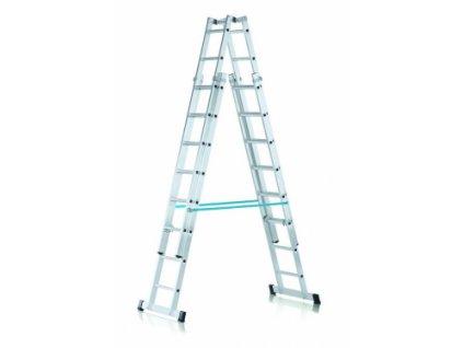 Vario B výškově stavitelný stojací žebřík, Pracovní výška max.: 6 m