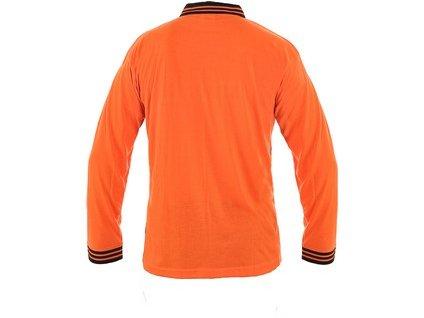 Polokošile LANDON, dlouhý rukáv, oranžovo-černá