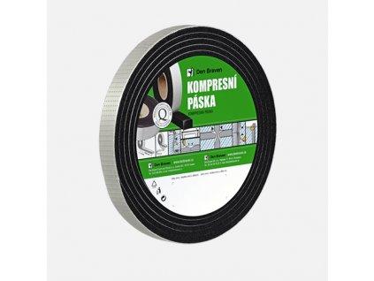 Kompresní páska, 25 mm x 12 mm x 4 m, černá