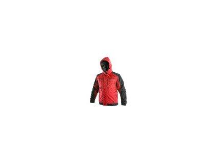 Bunda CXS IRVINE, zimní, pánská, červeno černá