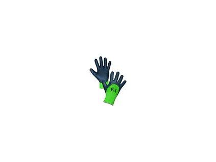 Povrstvené zimní rukavice ROXY DOUBLE WINTER, černo zelené, vel. 10