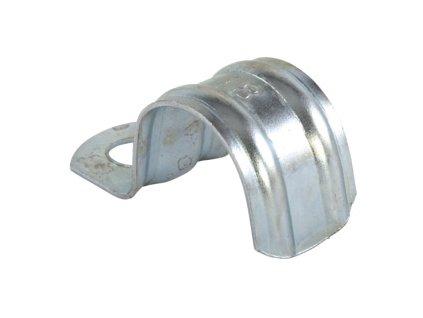 Příchytka z ocelového plechu pro připevnění trubek a kabelů. (Varianta BSM 6)