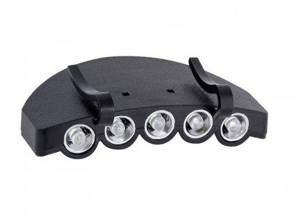 LED svítilna 6,0V 5 LED na kšiltovku (včetně 2xCD2032 baterií)