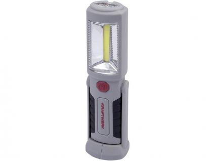 AKCE: LED svítilna Li-Ion 3,7V/800mAh 2 COB LED + 3 LED