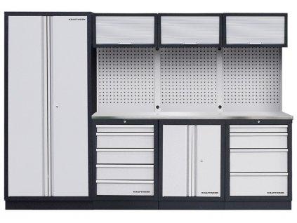 AKCE KW: Pracovní stěna 2955x458x2000mm INOX MOBILIO