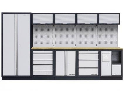 AKCE KW: Pracovní stěna 3635x458x2000mm Multiplex MOBILIO
