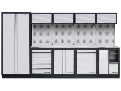 AKCE KW: Pracovní stěna 3635x458x2000mm INOX MOBILIO