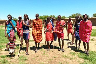 Tradiční masajská vesnice
