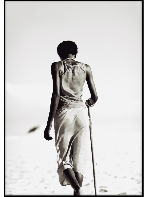 barevny africky plakat tribewoman 01