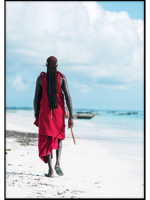 barevny africky plakat masai 01
