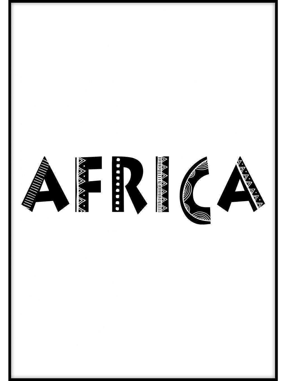 cernobily africky plakat typo 01