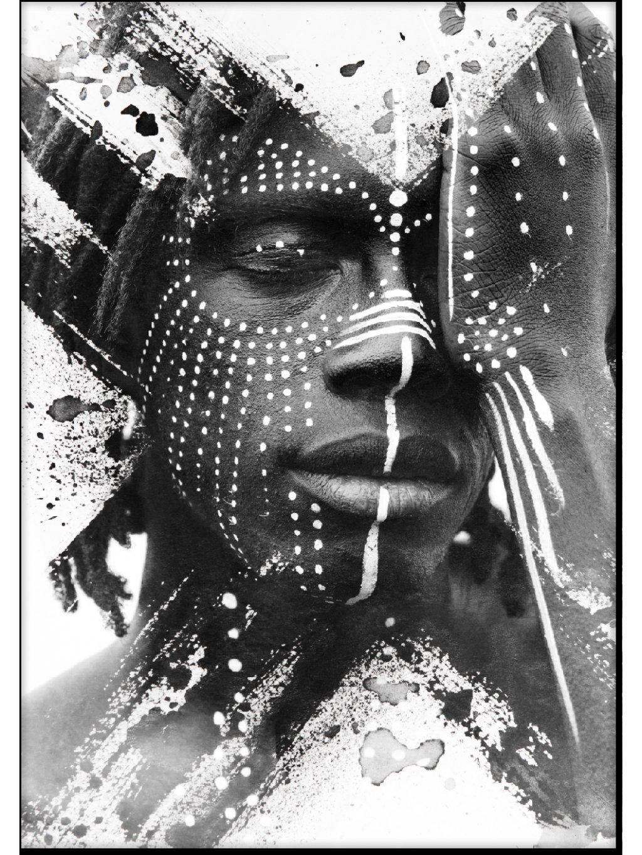 cernobily africky plakat tribeman 01
