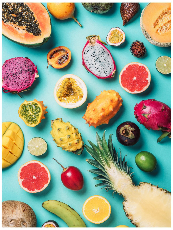 barevny africky plakat tropical fruits 01