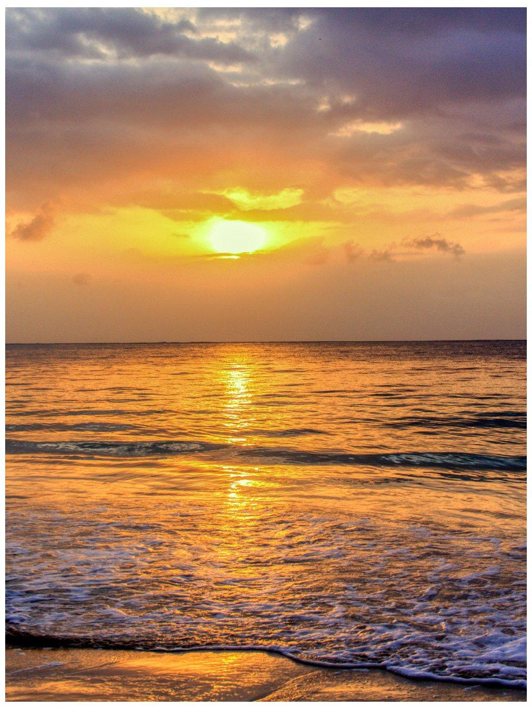 barevny africky plakat sunset 01