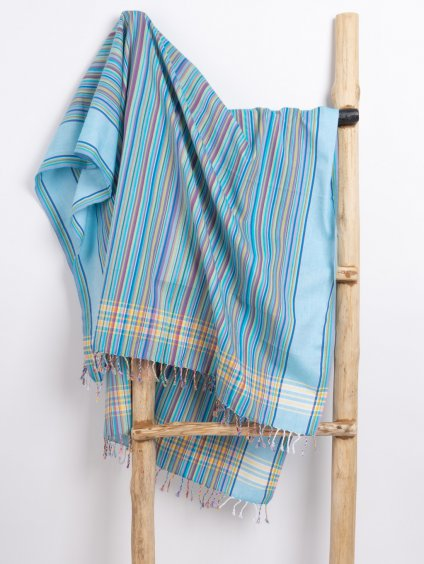 kikoi satek turquise rainbow stripes 01