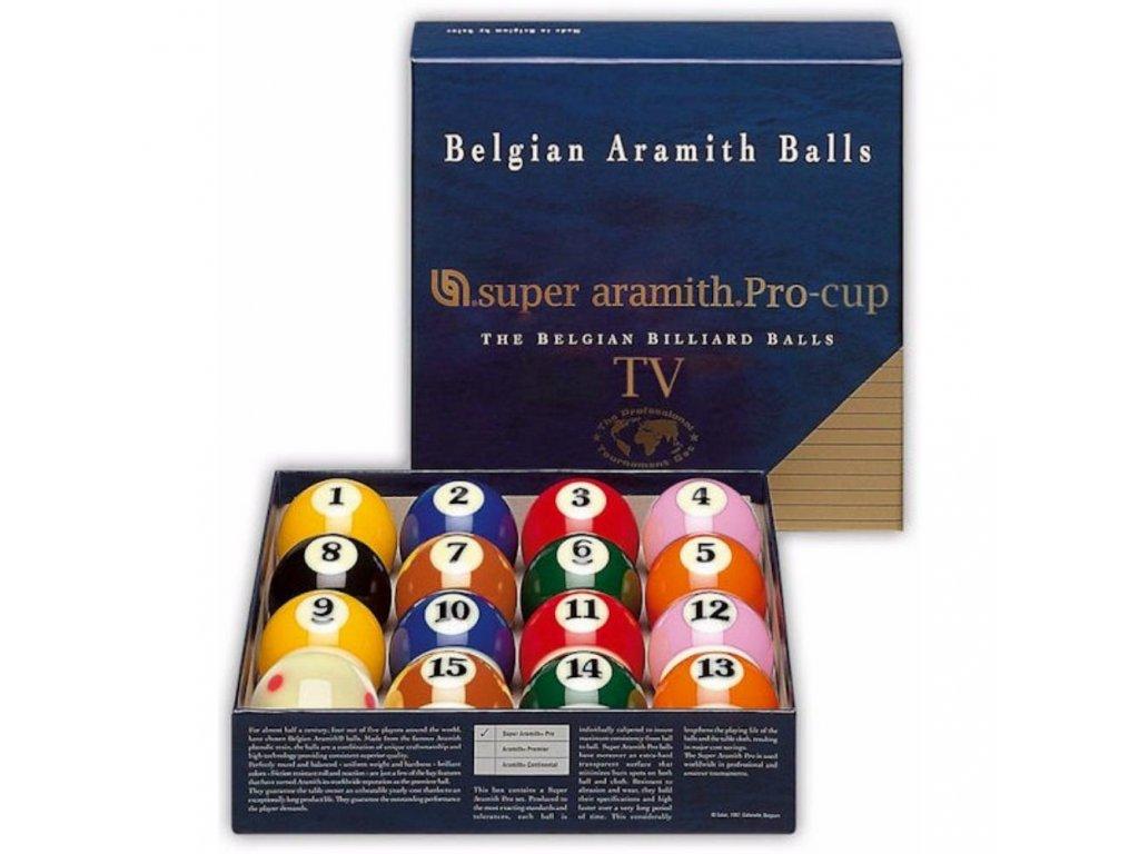 Aramith Pool Super Pro Cup TV 57,2 mm sada