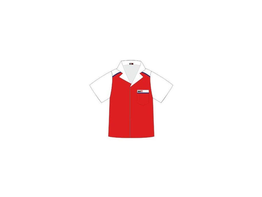 Košeľa ONE80 červená/biela, veľkosť M