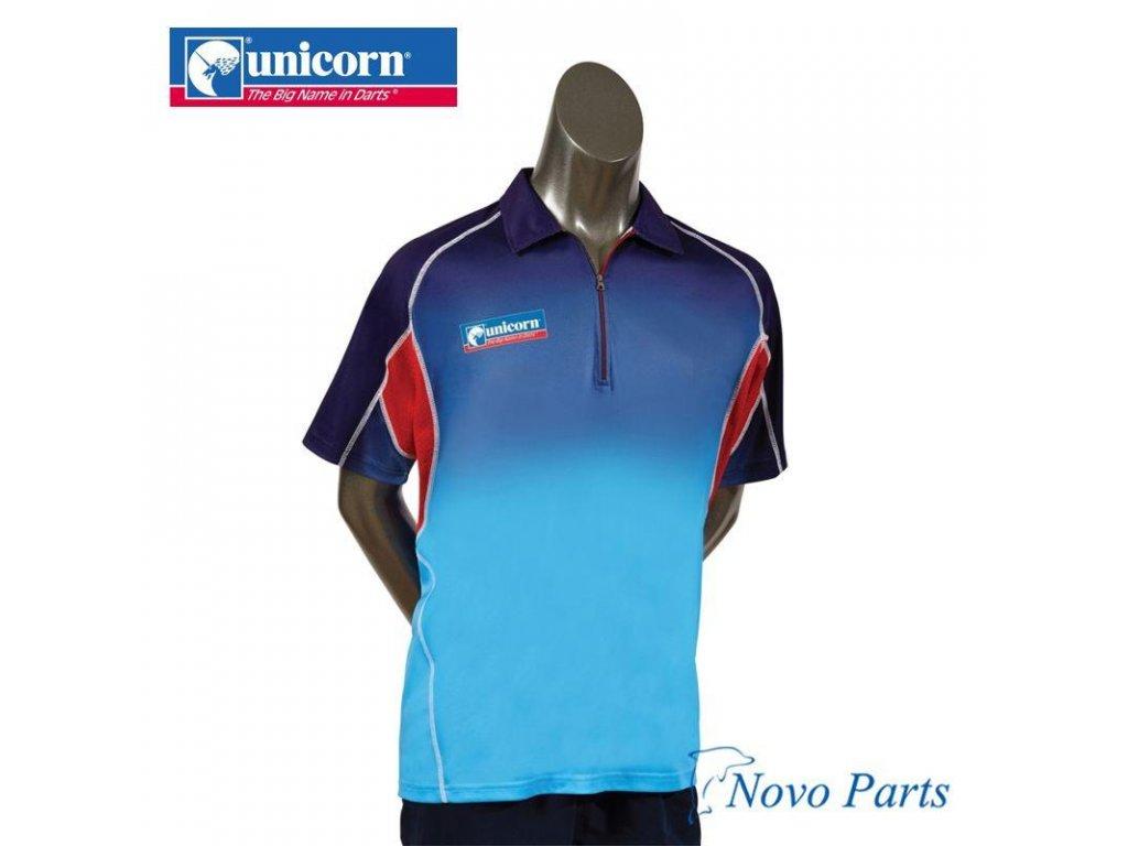 Košeľa Unicorn Pro, azúrová/modrá/červená, veľkosť XL