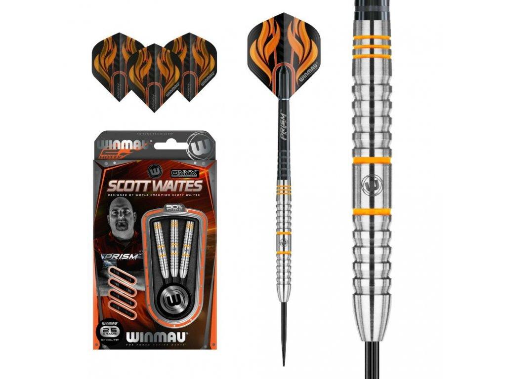 Šipky Winmau steel SCOTT WAITES 25g, 90% wolfram