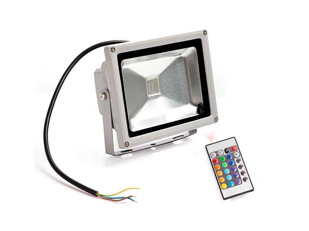 Ledia RGB Led reflektor 30W + dálkové