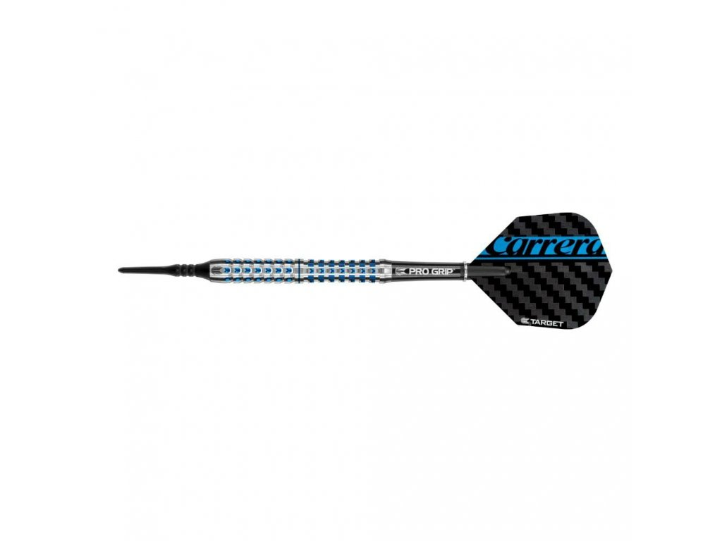 Šipky TARGET soft 17g Carrera Azzurri AZ30, 90% wolfram