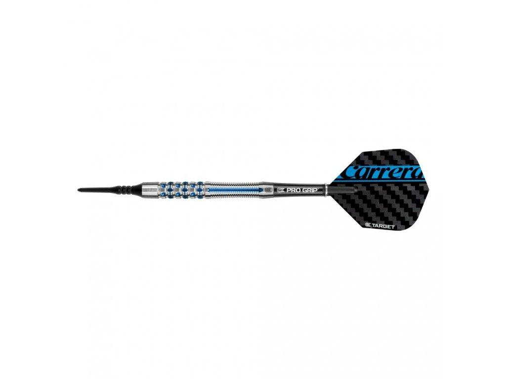 Šipky TARGET soft 18g Carrera Azzurri AZ31, 90% wolfram