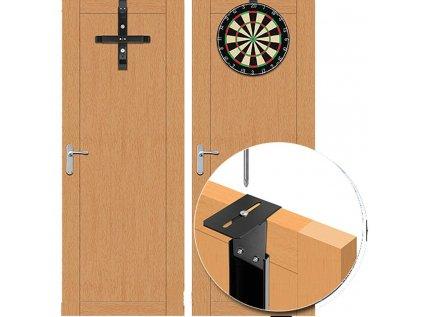 Věšák na sisalový terč Designa Hanger Pro na dveře