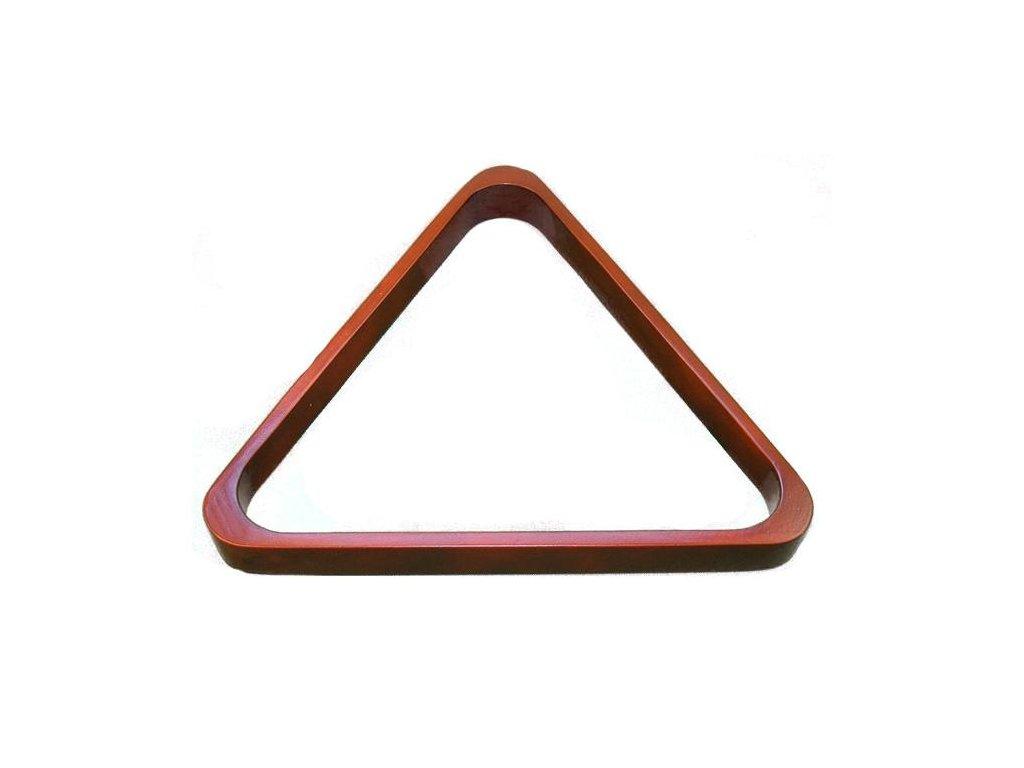 Trojuholník drevený mahagón