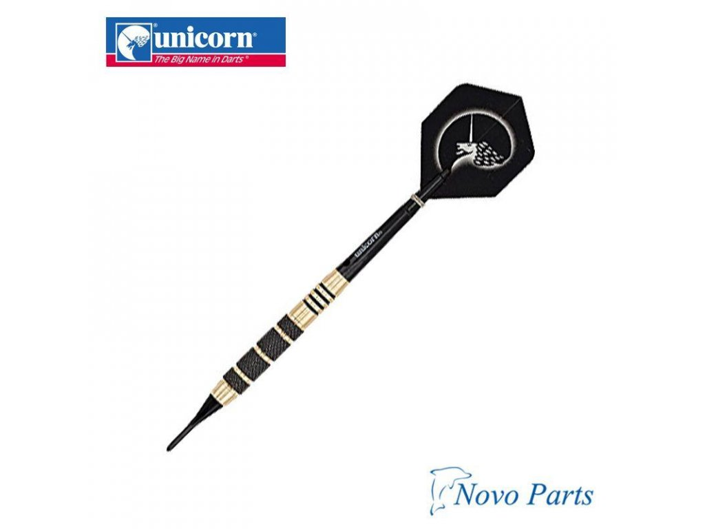 Šípky Unicorn soft Core Plus Win 17g, Black/Gold Brass