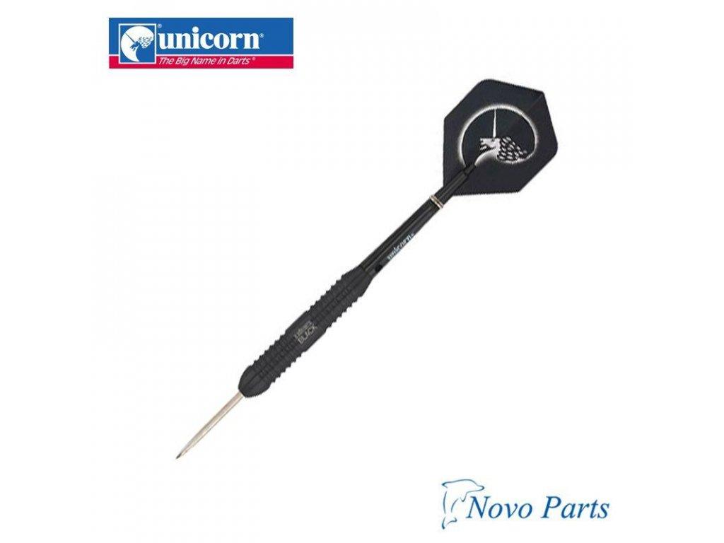 Šípky Unicorn steel CORE PLUS 22g, black brass