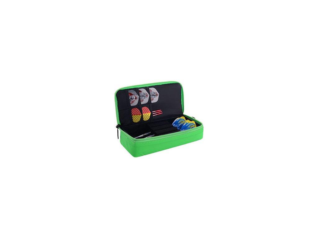 Puzdro na šípky ONE80, MINI D Box, zelené, čierne