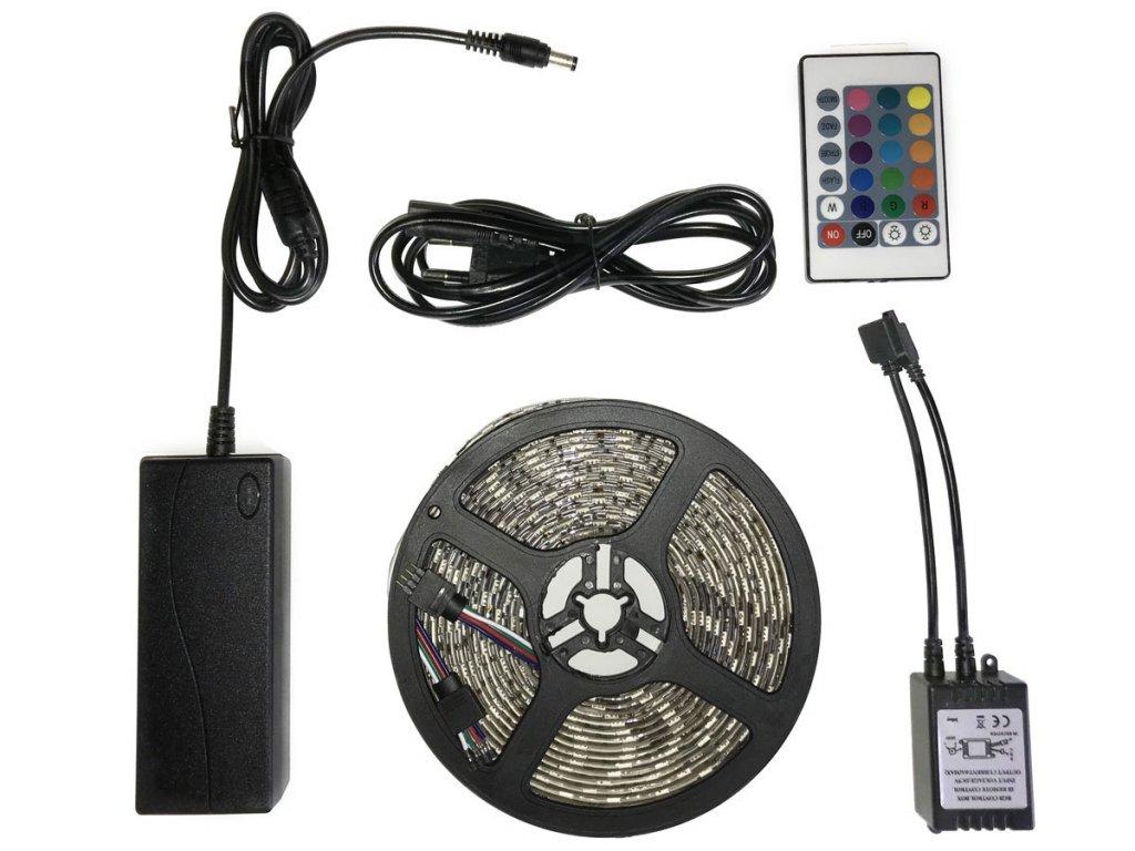 Ledia LED pás RGB 5m, SMD 5050, 30LED/m + zdroj, diaľkové