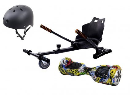"Aboard hoverboard 6,5"" Graffiti Bluetooth s hoverkartom a prilbou  + Prilba zdarma"