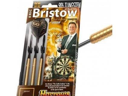 Šípky Harrows steel Eric Bristow 22g pozlatené, 90% wolfram