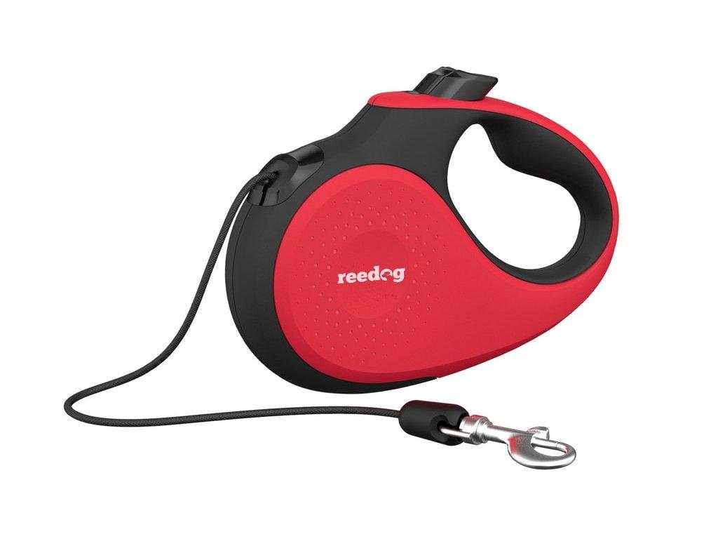 Reedog Senza Premium samonavíjecí vodítko S 12kg / 5m lanko / červené