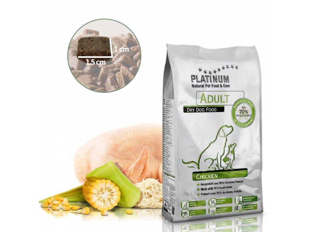 Platinum Natural Adult Chicken - KUŘECÍ 5 kg