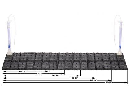 04906 Půdní filtr RS-16P, 56,5x28,5cm, 1 výstup