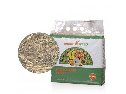 Rabbit Weed seno luční, 4x 0,6kg, cena za 1ks