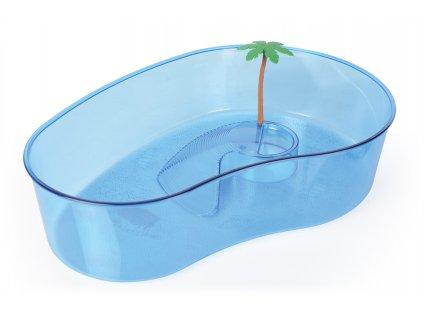 Želvárium Aruba s palmou plastové 40x27x9,5cm