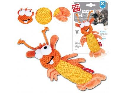 GiGwi Dental Mesh oranžová kreveta, catnip