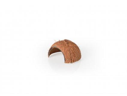 Kokosová skořápka s otvorem