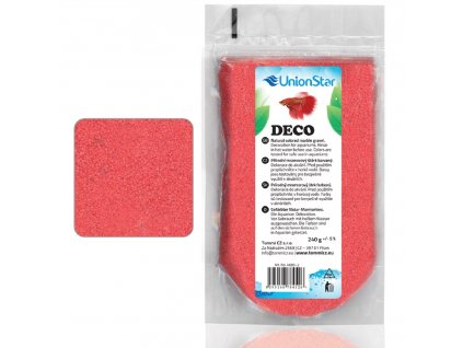 Betta akvarijní písek DECO červený 1 - 1,5mm, 240g