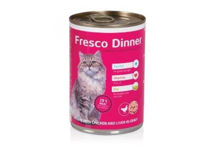 Fresco Dinner cat drůbež + játra 415g