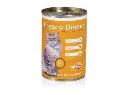 Fresco Dinner cat drůbeží 415g