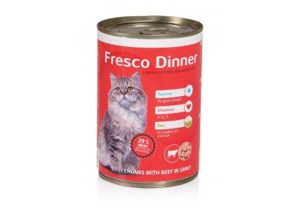 Fresco Dinner cat hovězí 415g