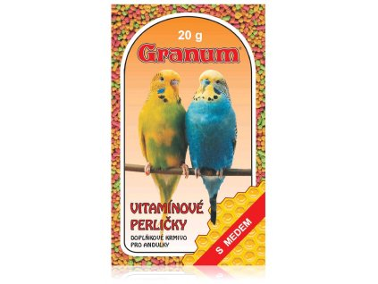 Granum vitamínové perličky pro andulky, 20g