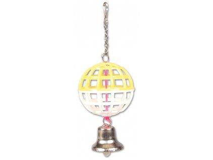 Hračka pro exoty - 1 koule se zvonkem, 7cm